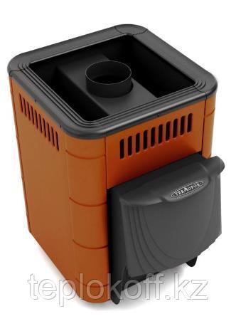 Печь для бани ТМФ Оса Carbon дверца антрацит короткий топливный канал терракота
