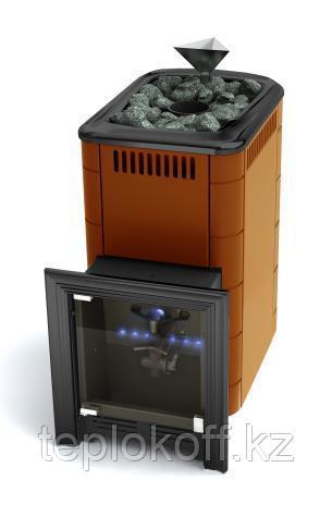 Печь для бани газовая ТМФ Таймыр Inox закрытая каменка терракота (без ГГУ)