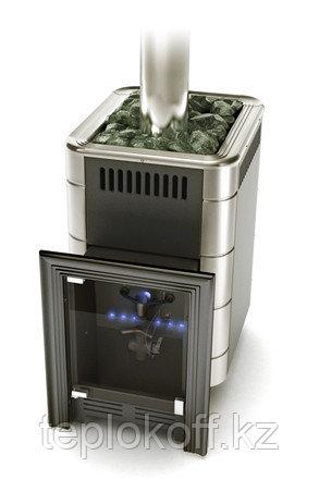 Печь для бани газовая ТМФ Уренгой-2 Inox антрацит нерж.вставки (без ГГУ)