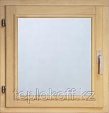 40113 Оконный блок 600*600 стекло прозрачное (осина)