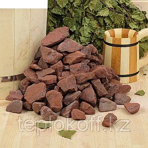 Камень для бани Яшма сургучная окатанная 10 кг, ведро
