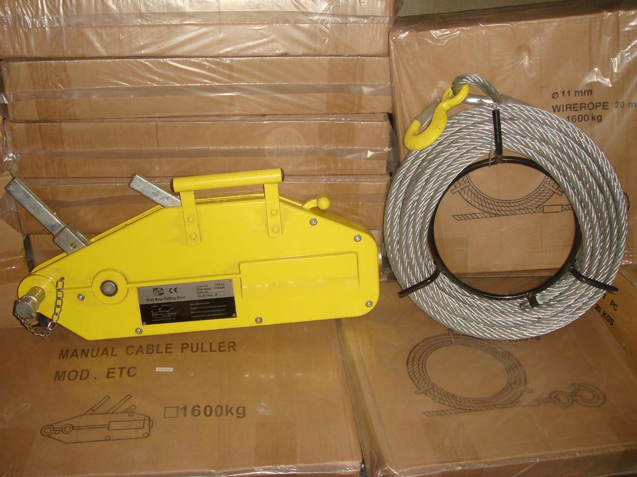 Лебедка ручная рычажная механизм тяговый монтажный мтм грузоподъемность 0.8 т высота 20 м