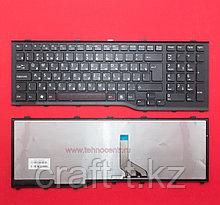 Клавиатура для ноутбука Fujitsu Lifebook AH532, RU, с рамкой, черная,