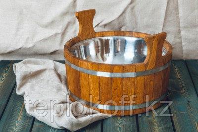 Шайка банная Woodson 15 л дуб с нержавеющей вставкой