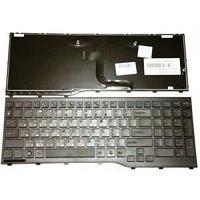 Клавиатура для ноутбука  Fujitsu Lifebook k AH552, RU, с рамкой, черная,