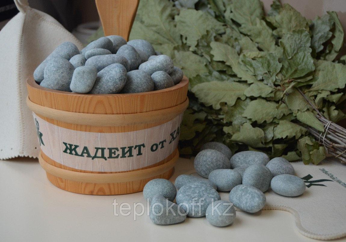 Камень для бани Жадеит шлифованный 10 кг мелкий Хакасия