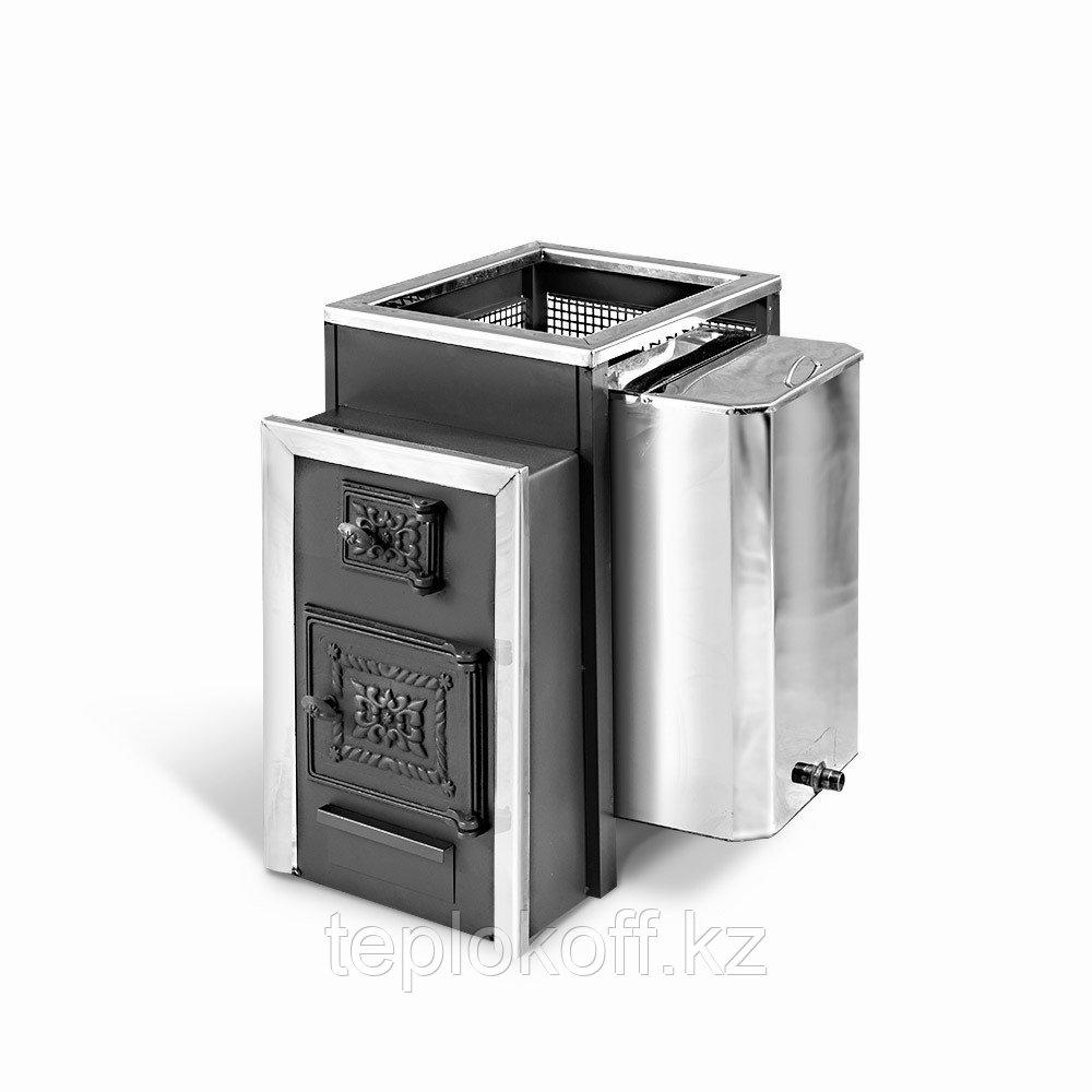 Печь банная Радуга-22Б, сталь 6 мм, с прочистной дверкой, под навесной бак 45л, Универсальный