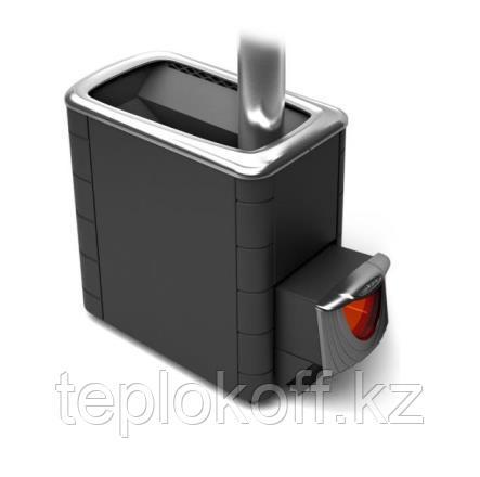 Печь для бани ТМФ Тунгуска XXL 2013 Inox нержавеющая дверца со стеклом антрацит