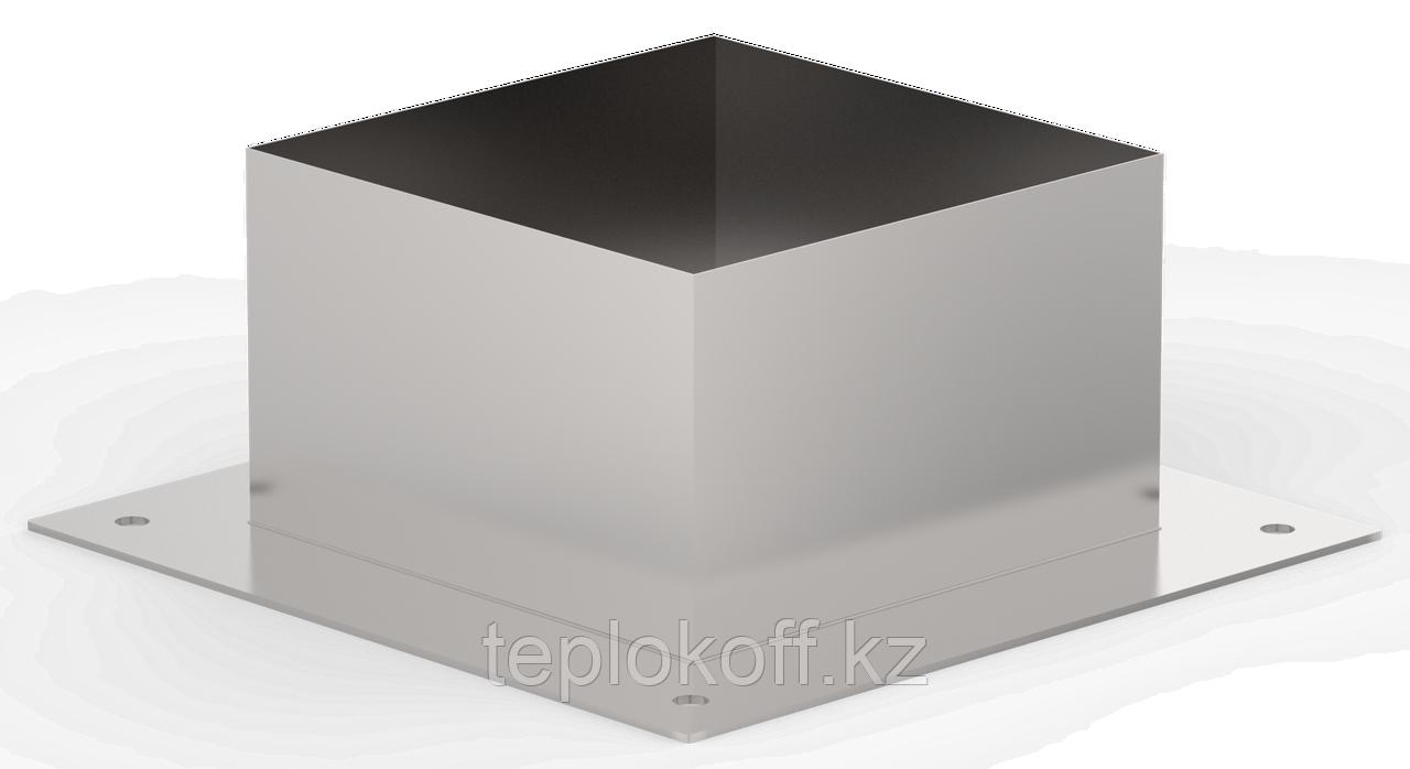 Декоративный ППУ КвХ, ф 130, AISI 439/Оц, 0,5мм/0,5мм