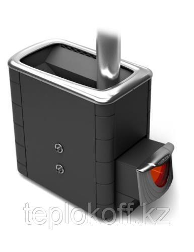 Печь для бани ТМФ Тунгуска XXL 2013 Inox нерж.дверца со стеклом т/обменник антрацит