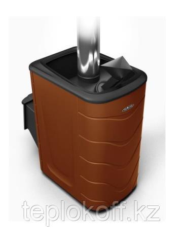 Печь для бани ТМФ Гейзер 2014 Inox дверца антрацит закр.каменка шоколад