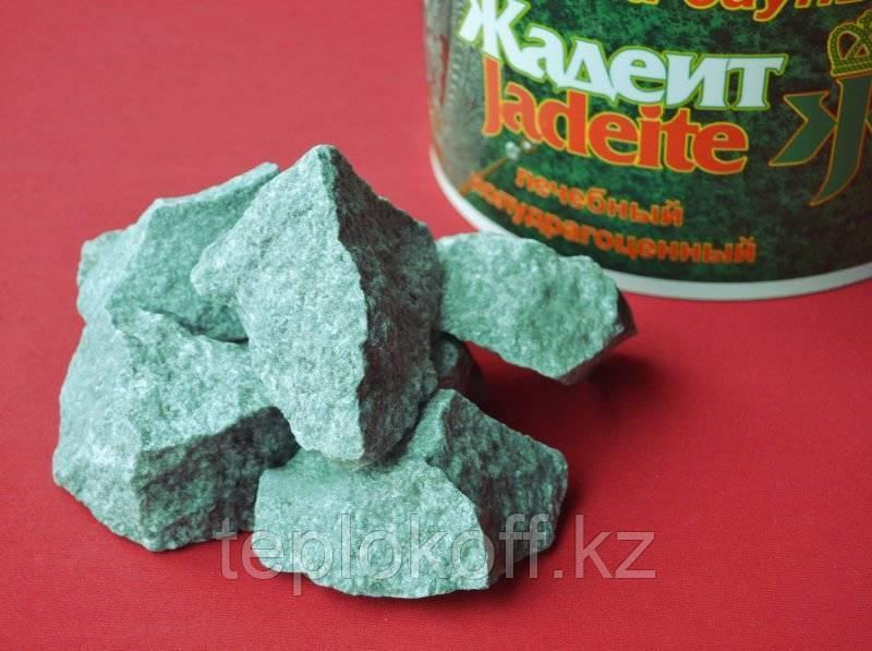 Камень для бани Жадеит колотый 10 кг мелкий, коробка Хакасия