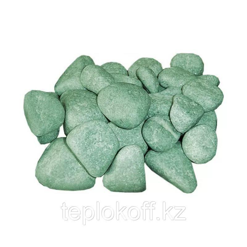 """Камень для бани Пироксенит """"Черный принц"""" шлифованный, 10 кг, средний, коробка, ЗЖ"""
