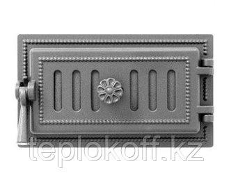 Дверца Везувий чугунная поддувальная, (236), 185*320 мм, антрацит