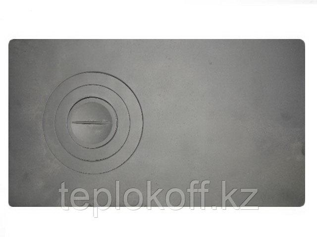 Плита чугунная П-1-2 одноконфорочная цельная 710*410 мм Балезино
