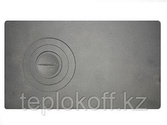 Плита чугунная П-1-2 одноконфорочная цельная, 710*410 мм, Рубцовск