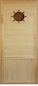 Дверь в парную Иллюминатор осина 700х1800 мм