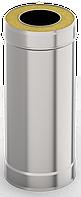 Сэндвич-труба 1,0м, ф 120х200 нерж/оц, 0,5мм/0,5мм, (К)