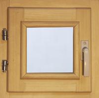40107 Оконный блок 400*400 стекло прозрачное (осина)