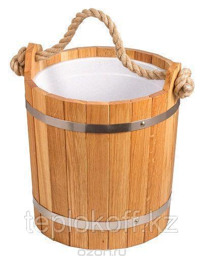 Запарник банный 20 л с пластиковой вставкой (дуб, ясень)