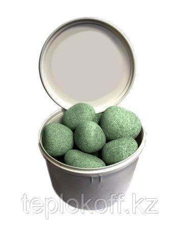 Камень для бани Жадеит шлифованный, 20 кг, средний