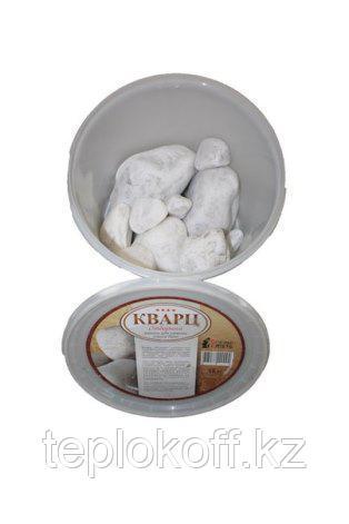 Камень для бани Кварц белый, 15 кг, ведро