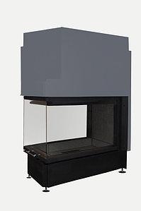 Топка каминная Дельта 900В три стекла, патрубок ф250, черный шамот, ЭкоКамин