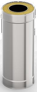Сэндвич-труба 1,0м, ф 130х200 нерж/оц, 0,5мм/0,5мм, (К)