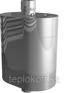 """Бак на трубе для печи 60 литров, ф-140 мм  AISI 439/0,8мм (штуцер 3/4"""")"""