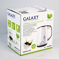 Чайник с двойными стенками GALAXY GL0301 (белый), фото 8