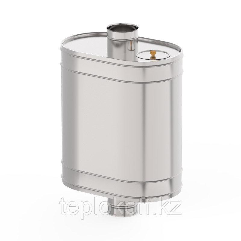 Бак на трубе для печи самоварного типа 70 Л, нержавеющий  (AISI 439/0,8 ММ), Ф-130 мм