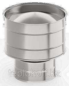 Оголовок с дефлектором, ф 130х200 нерж/нерж 0,5мм/0,5мм, (К)