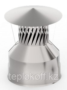Оголовок с искрогасителем, ф 120х200 нерж/нерж 0,5мм/0,5мм, (К)