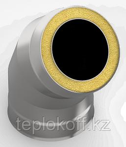 Сэндвич-отвод 135*, ф 115х200 нерж/оц, 1,0мм/0,5мм, (К)