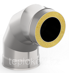 Сэндвич-отвод 90*, ф 200х280 нерж/оц, 1,0мм/0,5мм, (К)