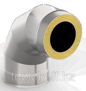 Сэндвич-отвод 90*, ф 140х200 нерж/нерж 1,0мм/0,5мм, (К)