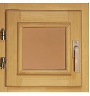 40102 Оконный блок 300*300 стекло бронза (осина)