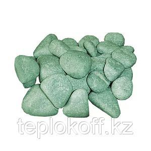 Камень для бани Жадеит шлифованный, 10 кг, средний, коробка, ЗЖ