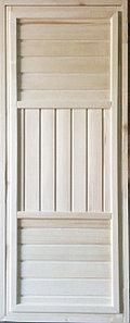 Дверь банная универсальная осина 1800*700*65 мм
