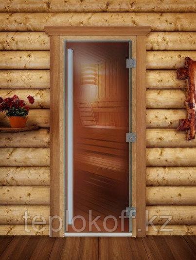 Дверь стеклянная DoorWood Престиж (стекло бронза 8 мм, 3 петли) 1900*700