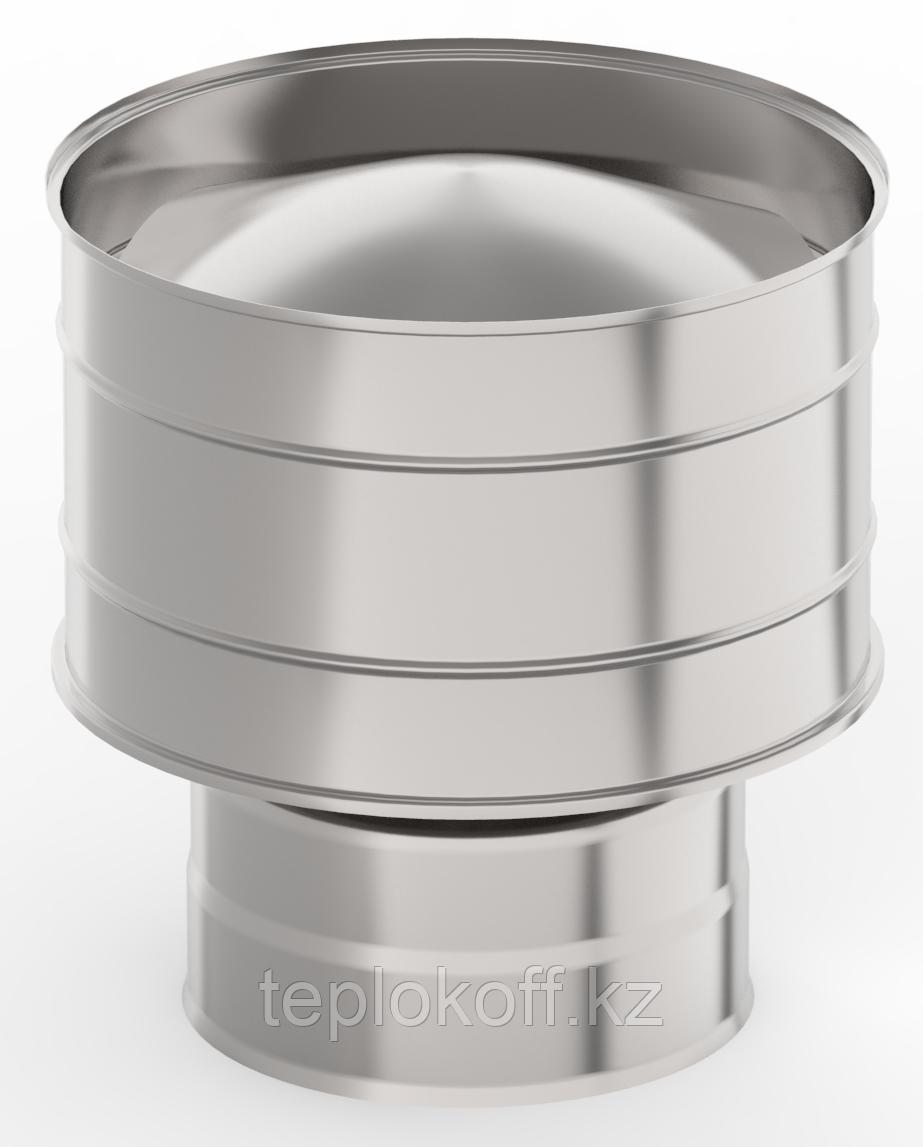 Оголовок с дефлектором, ф 120х200 нерж/нерж 0,5мм/0,5мм, (К)
