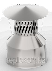 Оголовок с искрогасителем, ф 130х200 нерж/оц, 0,5мм/0,5мм, (К)