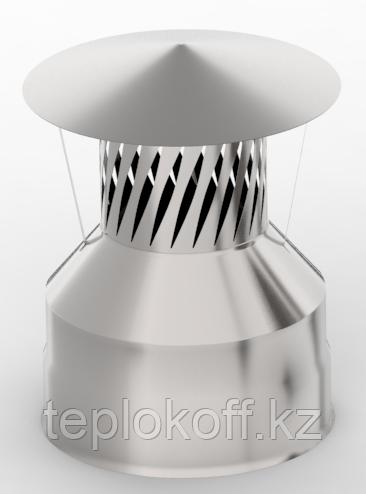 Оголовок с искрогасителем, ф 150х210 нерж/оц, 0,5мм/0,5мм, (К)
