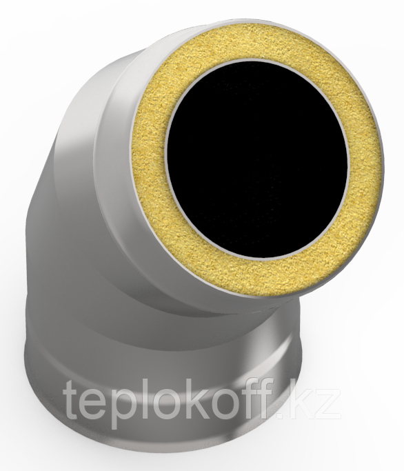 Сэндвич-отвод 135*, ф 115х200 нерж/оц, 0,5мм/0,5мм, (К)