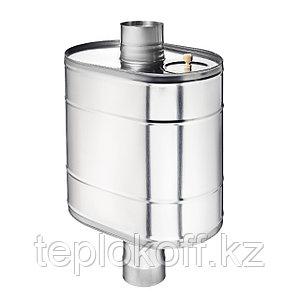 """Бак на трубе для печи 43 литра ф-115, AISI 439/0,8мм, (штуцер 3/4"""")"""