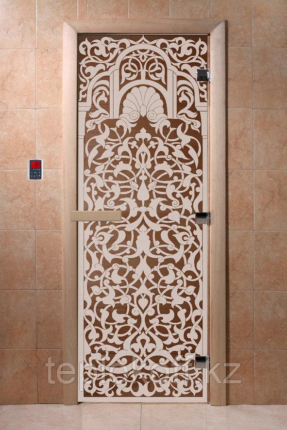 Дверь стеклянная DoorWood Флоренция (стекло бронза 6 мм, 2 петли) 1900*700