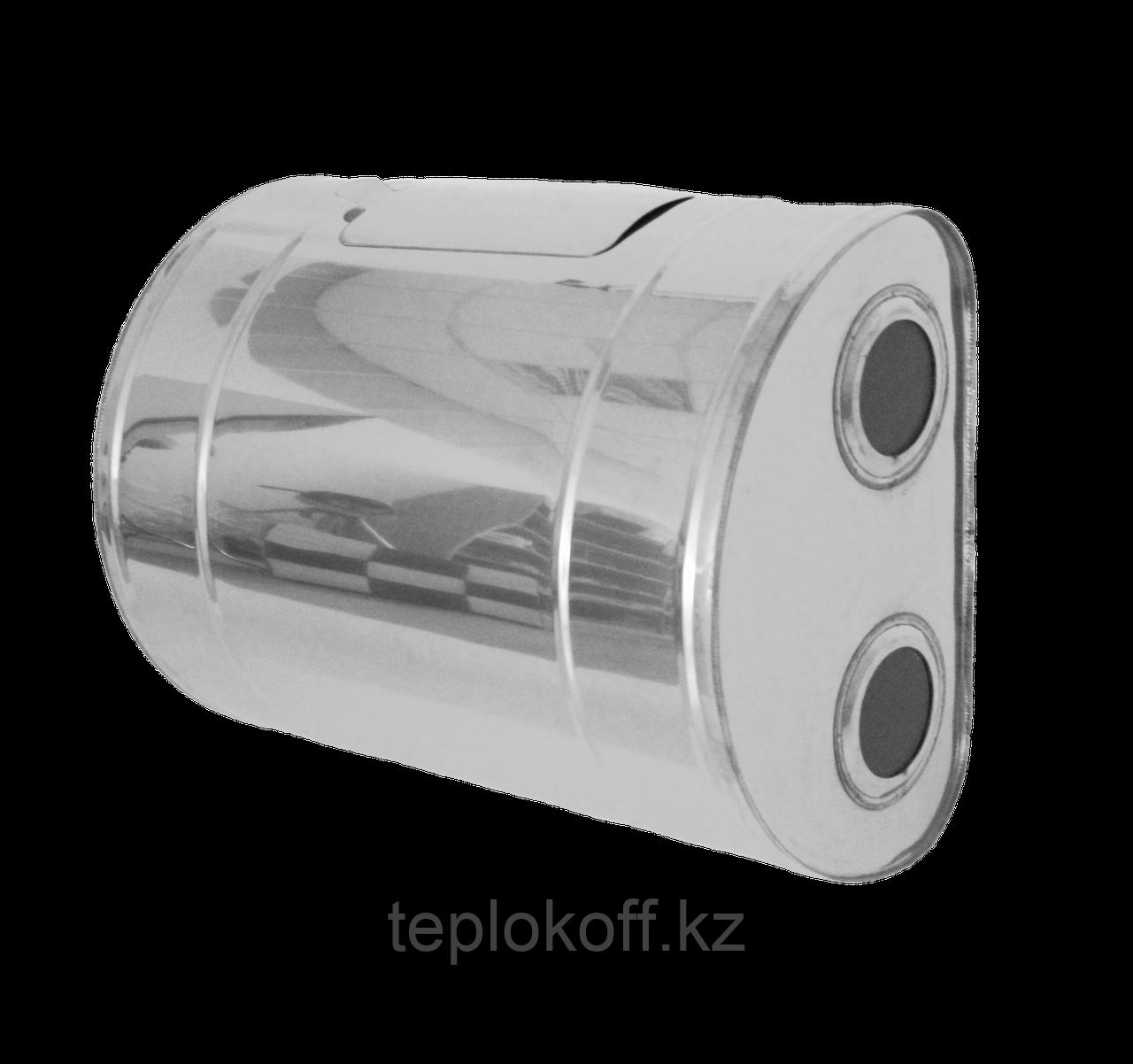 """Бак для теплообменника """"Тритон"""",  80л, AISI 439/0,8мм, Г/ЛЕВ, (штуцер 3/4"""")"""