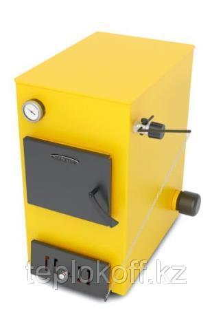 Котел твердотопливный ТМФ Ташкент Электро, 16кВт, АРТ, ТЭН 6 кВт, желтый
