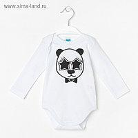 Боди, рост 74 см, цвет белый, принт панда B 04.41.02 _М