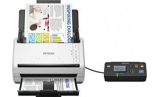 Сканер Epson WorkForce DS-530, A4, 600x600dpi, 48-bit, 35ppm, 4000 скан/день, ADF, USB 3.0